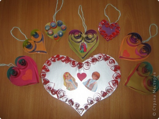Вот такие валентинки учащиеся 4 класс приготовили к выставке. фото 2