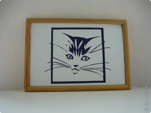 Эту картину я нашла в блоге elena2003. Он мне так понравился, потому что безумно похож на моего кота.