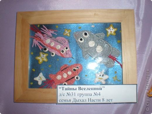 В нашем детсаду в спортивном зале проходила выставка работ, посвящённая дню космонавтики.  фото 11