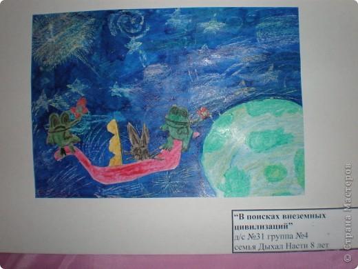В нашем детсаду в спортивном зале проходила выставка работ, посвящённая дню космонавтики.  фото 10