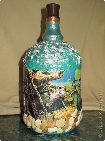 Попросили меня оформить бутылку для юбиляра. Он - заядлый рыбак фото 3