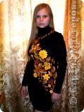 Платье выполнено крючком.Элементы взяты из ирландского гипюра и просто адаптированы к данной модели в виде аппликации. само платье связано крючком -столбики с двумя накидами.Бусы- комбинация бижутерии и вязаных бусин, пришиты к платью. фото 1