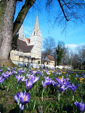 Эта красота недалеко от нашей квартиры.  Церковь и рядом небольшой парк фото 1