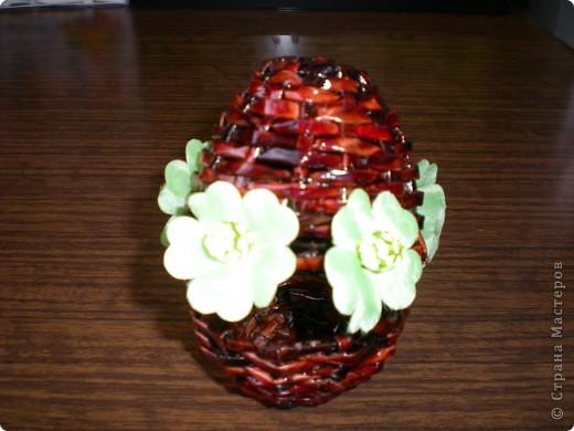 Шкатулка-яйцо для пасхальной писанки фото 1