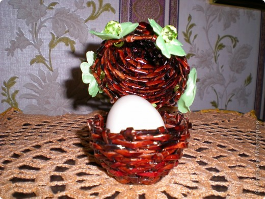 Шкатулка-яйцо для пасхальной писанки фото 2