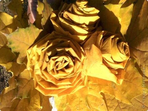 Нашла осенние фотки и решила их выложить. Пока дочка игралась на площадке руки как-то сами-собой скрутили цветочки. Я не думала что это так поразит мамочек на соседних лавочках, которые стали сходиться и разглядывать их. фото 2