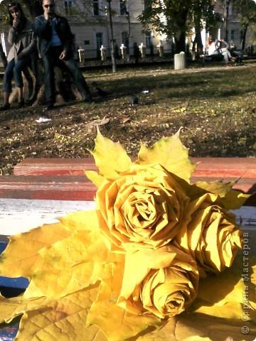 Нашла осенние фотки и решила их выложить. Пока дочка игралась на площадке руки как-то сами-собой скрутили цветочки. Я не думала что это так поразит мамочек на соседних лавочках, которые стали сходиться и разглядывать их. фото 4