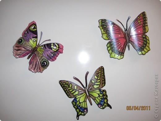 Прочитала в журнале, как можно сделать бабочек из пластиковых бутылок фото 4