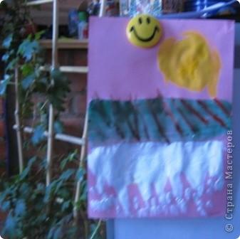 За идею спасибо Анат  «Весенняя капель» http://stranamasterov.ru/node/62713?c=favorite  Занятие было по-весеннему радостное, музыкальное, теплое. Малыши много говорили о блестящих сосульках, с радостью рисовали капель. фото 6