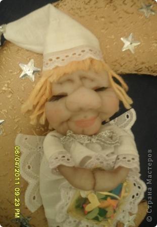 Вот такой милый ангелок у меня сегодня родился. Сделала его по МК Ликмы. Огромное ей за это СПАСИБО! фото 2