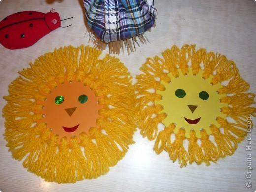 Из чего сделать солнышко своими руками для