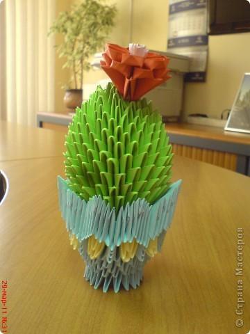 Вот такой у меня получился кактус.