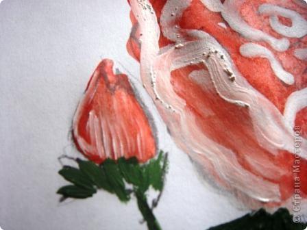Маленький МК  разукрашивания моей розы. фото 7