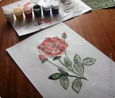 Маленький МК  разукрашивания моей розы. фото 9