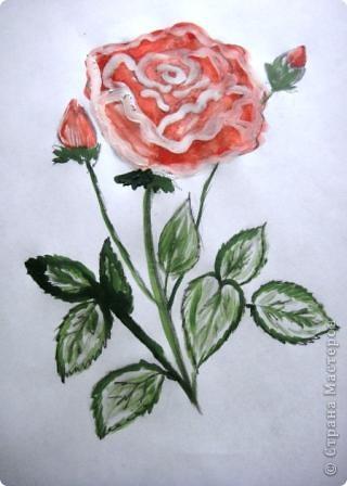 Маленький МК  разукрашивания моей розы. фото 1
