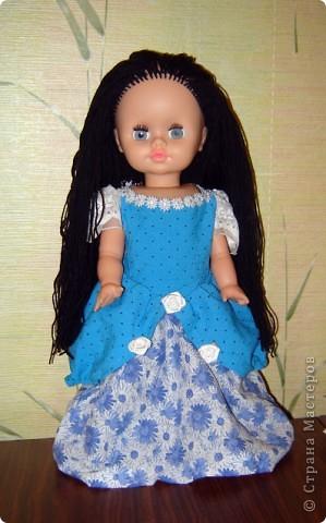Новая шевелюра для куклы.  Старая совсем износилась