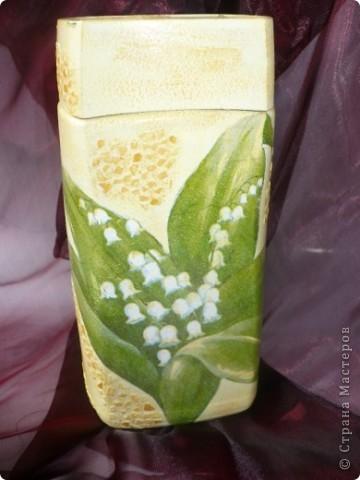 Вот такой комплектик получился, бутылочка сделана ранее, но уж очень нравится эта салфетка.... фото 3