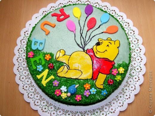 Тортик сыну на полтора годика:) фото 1