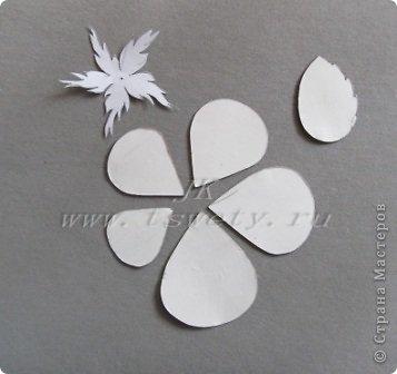 Мастер-класс цветы из ткани.   Белая роза без специальных инструментов.  Гофрированная. фото 6