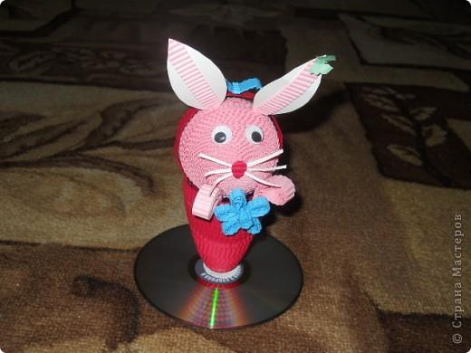 Это заяц в корзинке