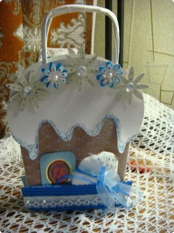 Пасхальный пакетик для открытки в виде куличика, куличик-игольница, куличик-шкатулочка. фото 2