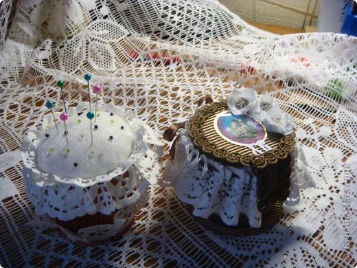 Пасхальный пакетик для открытки в виде куличика, куличик-игольница, куличик-шкатулочка. фото 5