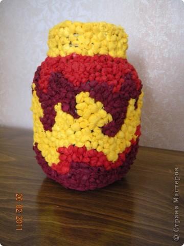 Это моя вазочка с узором в стиле огня. фото 1