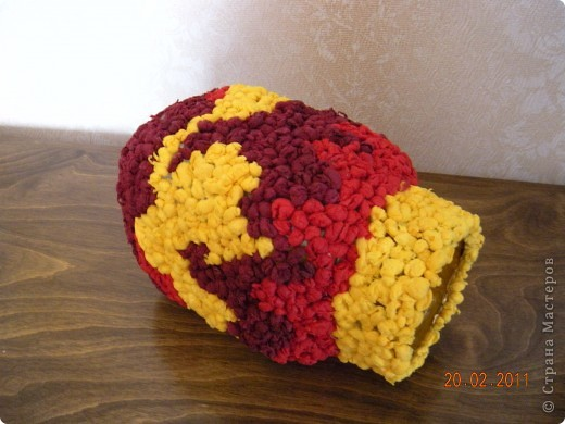 Это моя вазочка с узором в стиле огня. фото 2