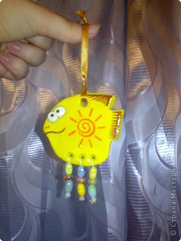 В подарок подруге сделала шкатулочку для украшений и рыбку для ее желто-оранжевой кухни!  фото 7