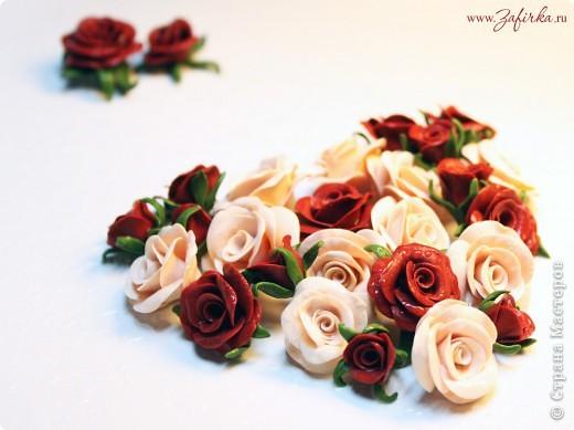 Розы из полимерной глины (термопластики)