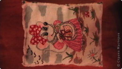подушечка для дочки, первая работа. фото 1