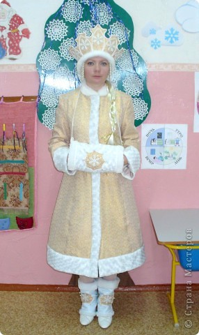Снегурочка. Костюм шила для детского сада, который посещает сын. фото 1