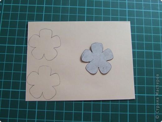 Открытка + небольшой МК по созданию цветка фото 5