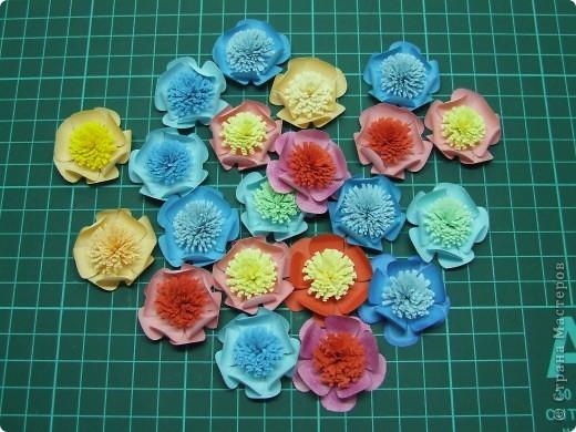 Открытка + небольшой МК по созданию цветка фото 11