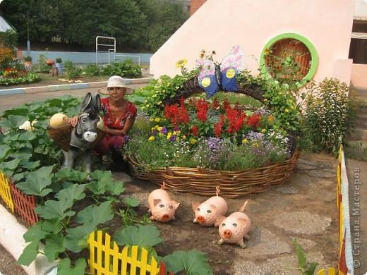 Корзина плетеная для сада своими руками