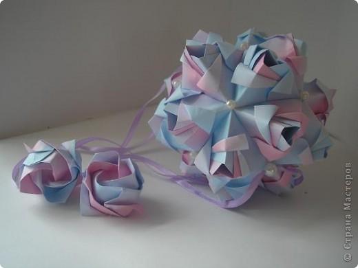 Новенькое!!!! Кусудама Little Rose Автор Мария Синайская фото 2