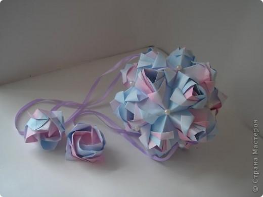 Новенькое!!!! Кусудама Little Rose Автор Мария Синайская фото 3