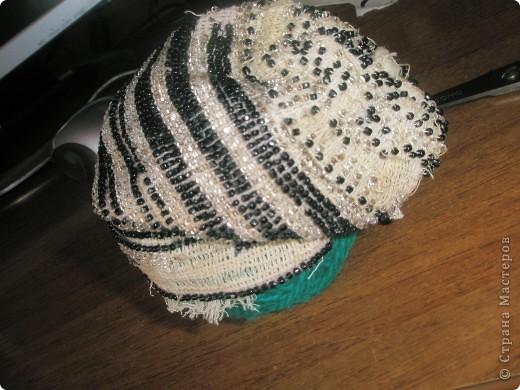 шапочка из бисера фото 3