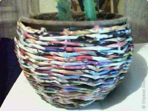корзинка покрашена краской и покрыта лаком фото 2