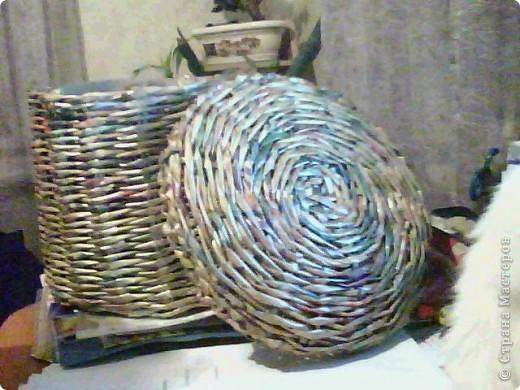 корзинка покрашена краской и покрыта лаком фото 3