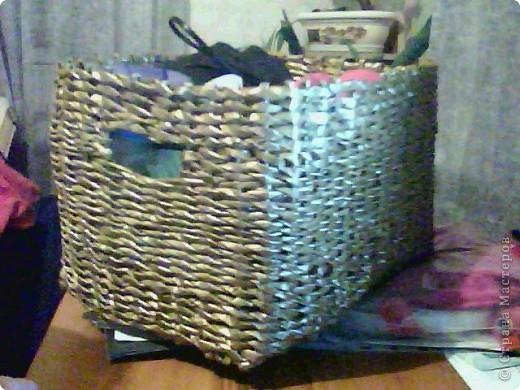корзинка покрашена краской и покрыта лаком фото 1