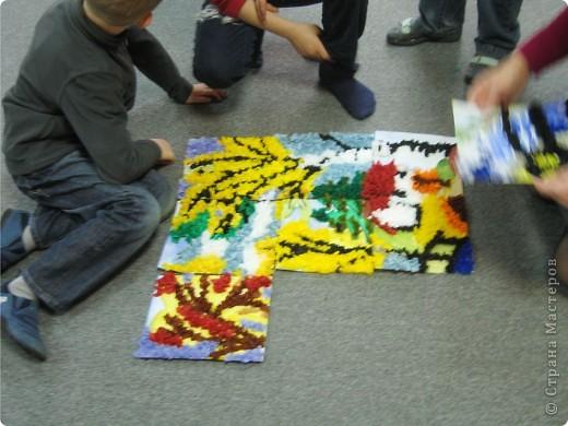 Мы с ребятами с удовольствием приняли приглашение принять участие в Городской Выставке Детского Творчества. Немного подумав, решили сделать групповую работу в технике торцевания. Приглашаем Вас посмотреть, как это было... фото 10