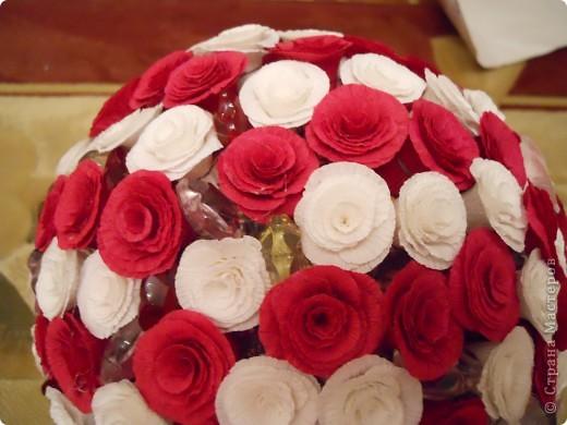 Увидев цветочные шары Витулички сразу загорелась. хочу и все! съездила в цветочный, купила бумагу и понеслось.   фото 2