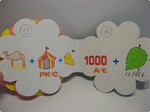 В школе нам задали сделать книжку-малышку. А я очень люблю отгадывать ребусы, загадки, поэтому  и решила сделать вот такую книжку. фото 9