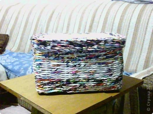корзинка покрашена краской и покрыта лаком фото 4