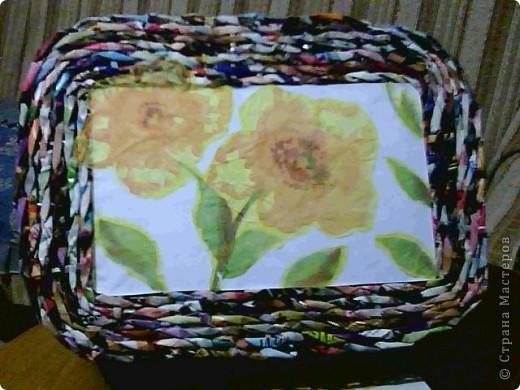 корзинка покрашена краской и покрыта лаком фото 5