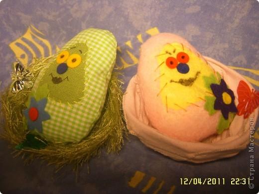 Доброго времени суток всем зашедшим на огонёк! Вас приветствуют пасхальные развесёлые яйца :) идея взята тут  ⪡ Ссылка удалена п. 2.4 http://stranamasterov.ru/print/regulations ⪢ фото 3