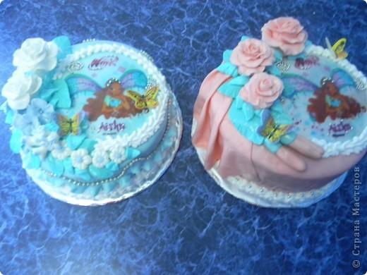 Тортики для двойняшек фото 1
