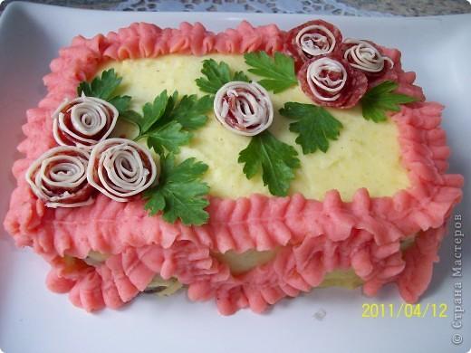 Картофельный торт фото 1