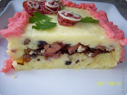 Картофельный торт фото 8